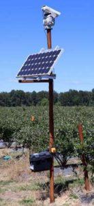 獣害に悩む農家にセンサーつき強力レーザー