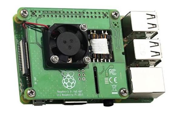 「Raspberry Pi PoE HAT」の国内販売スタート(LANケーブル給電)