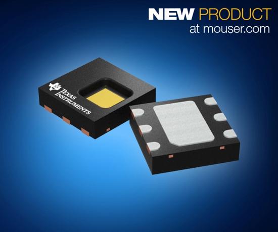 マウザー、スマート機器向け、TI社製HDC2080湿度および温度デジタル・センサの取り扱いを開始