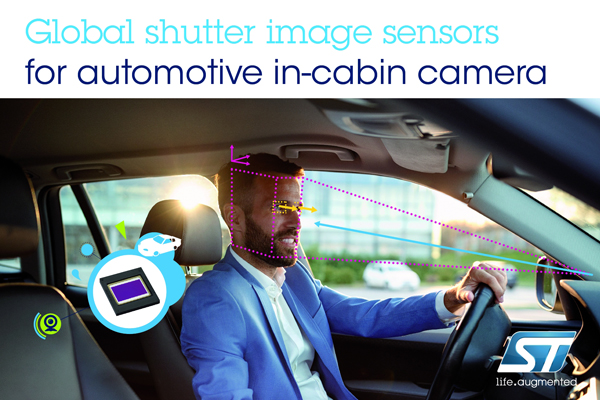 ST、車載システムの運転手/搭乗者モニタを強化するイメージ・センサを発表