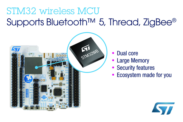 ST、超低消費電力でリアルタイム性に優れたデュアル・コア無線マイコンを発表