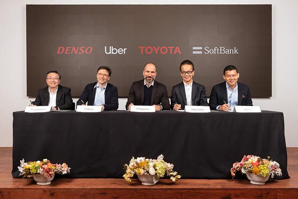 トヨタ、デンソー、ソフトバンクVF、Uber-ATGに10億ドル出資