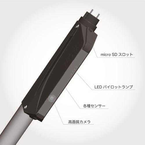 通信機能を備えたLED蛍光灯一体型の防犯カメラを鉄道業界に試験導入
